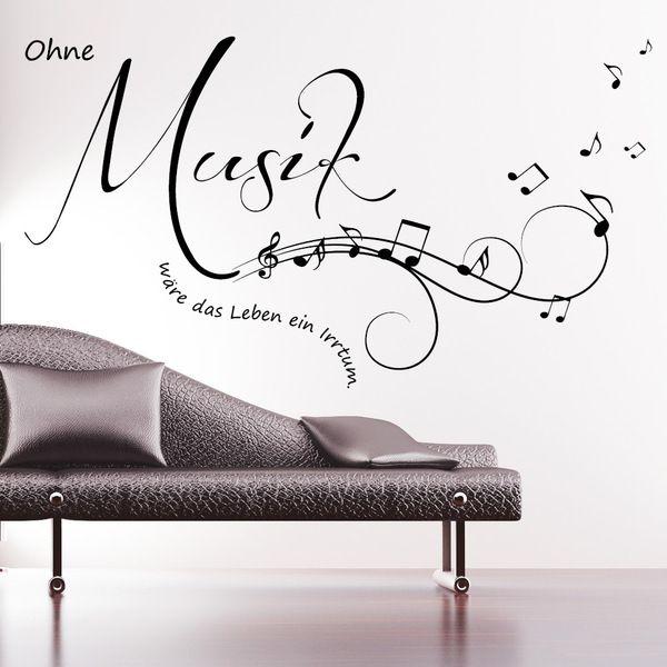 Wandtattoo Ohne Musik Ware Das Leben Ein Irrtum Von Wandtattoo