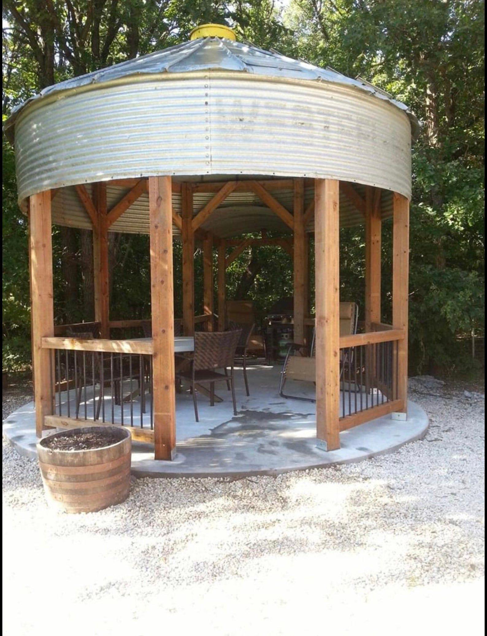 Photo of Grain Bin Pavilion   Barnwood Studio LFK