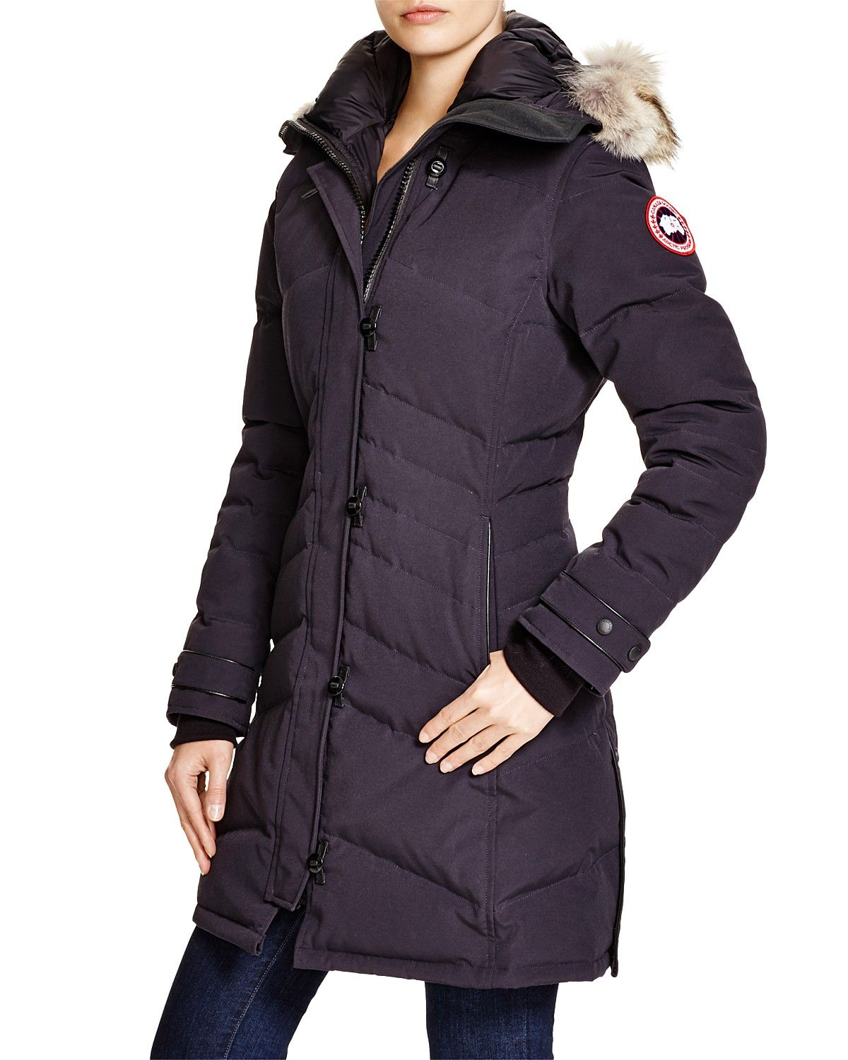 canada goose lorette down coat with coyote fur 100