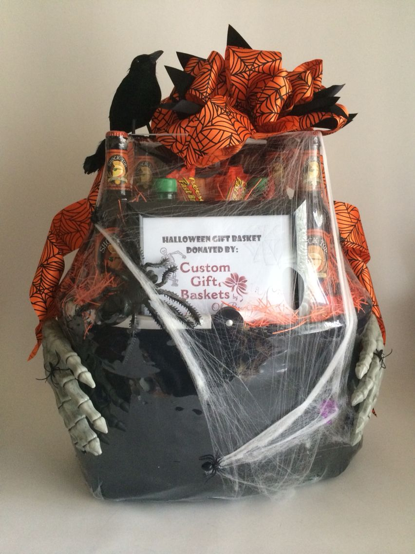 Halloween Gift Basket Ideas For Adults.A Frightfully Hand Some Halloween Gift Basket Www