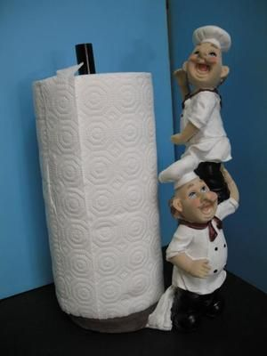 Italian fat chef paper towel holder kitchen bistro new bar decor ...