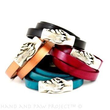 Leather triple wrap bracelets