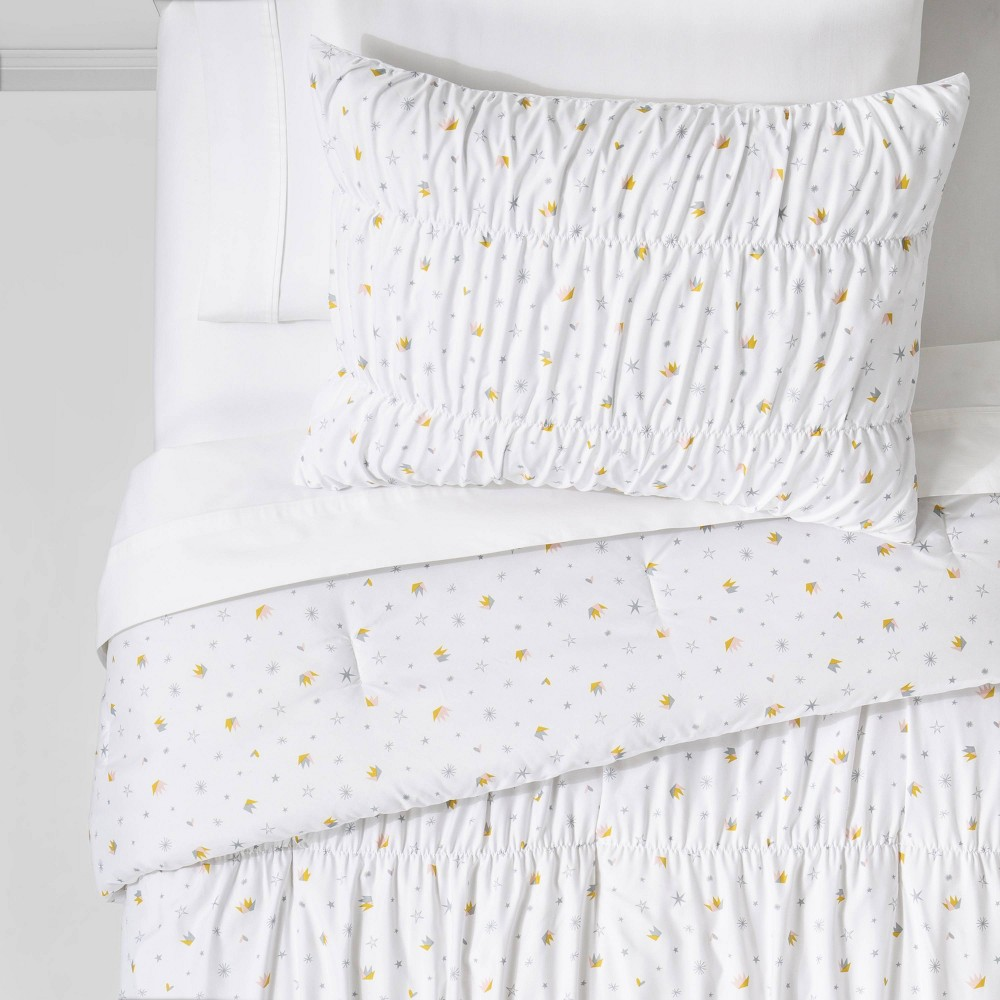Twin 2pc Crown Ruched Comforter Set - Pillowfort™