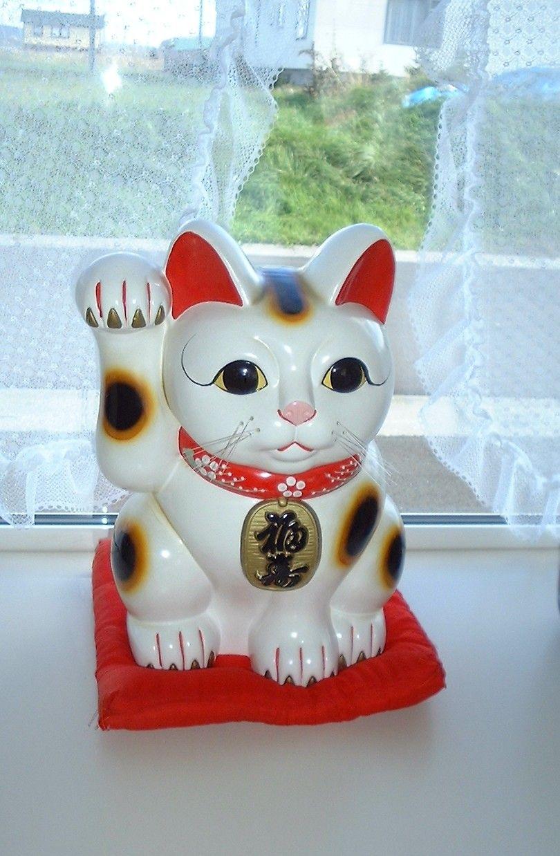 Maneki Neko Japanese Bobtail Winkende Katze
