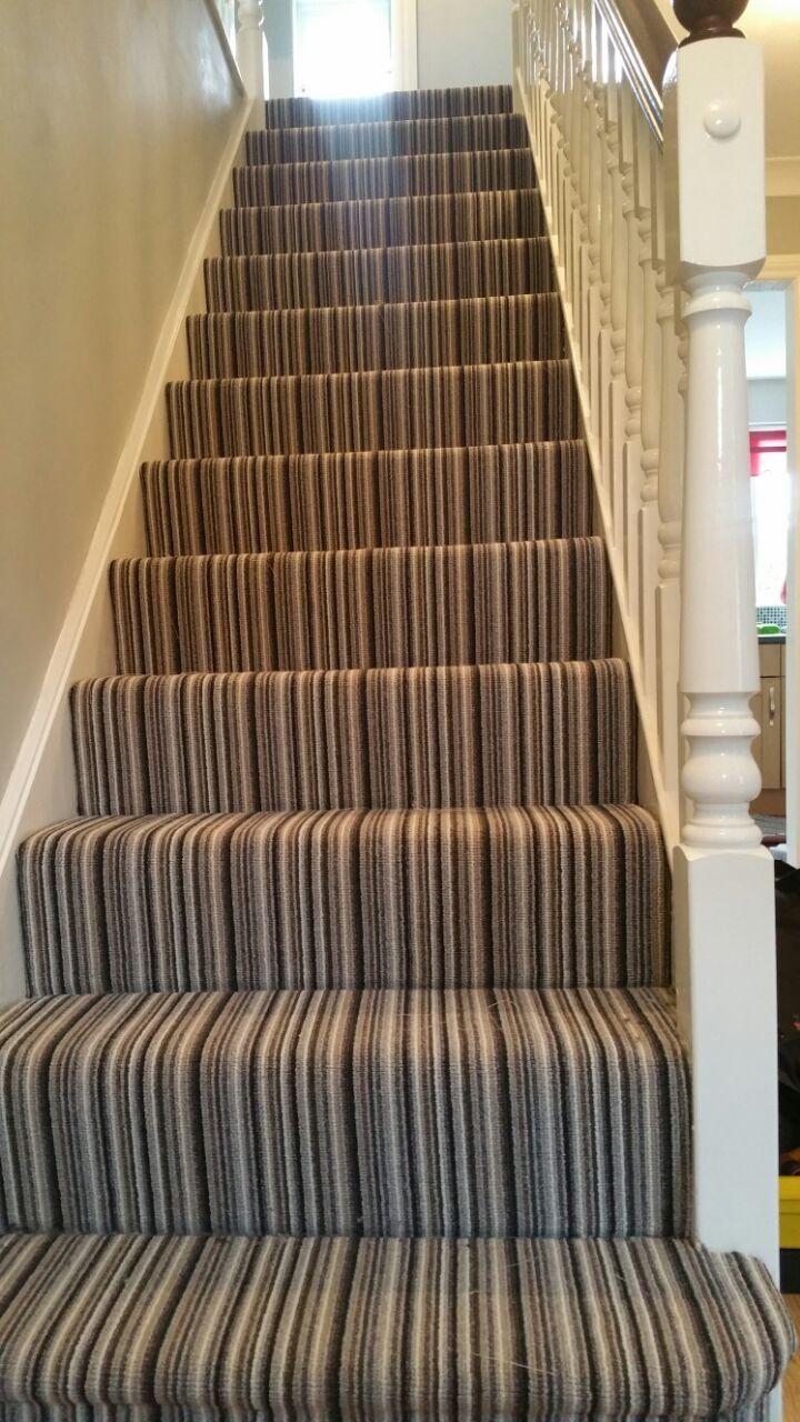 Stripy Striped Stair Carpet In Preston Stairs Design