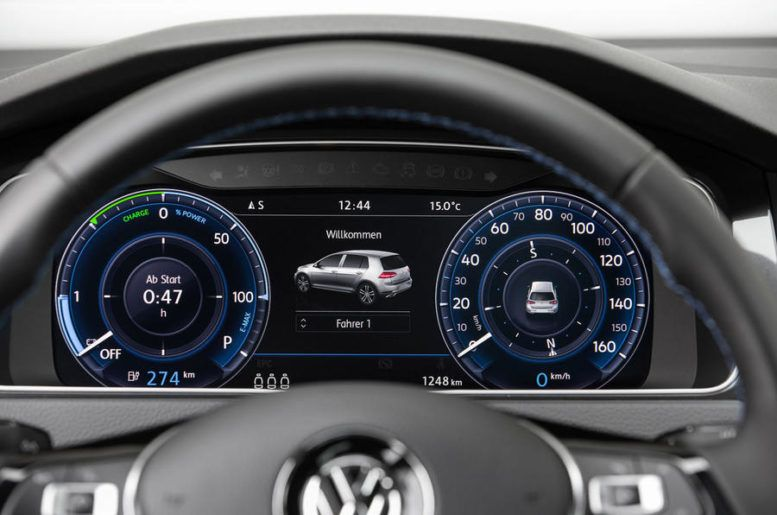 2017 volkswagen e golf digital dashboard as in classic. Black Bedroom Furniture Sets. Home Design Ideas