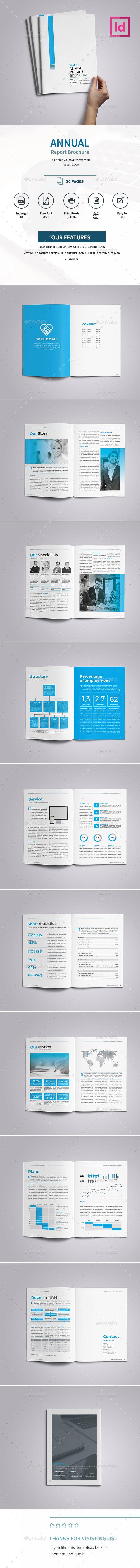 Corporate Annual Report Brochure 2017 — InDesign Template #corporate ...