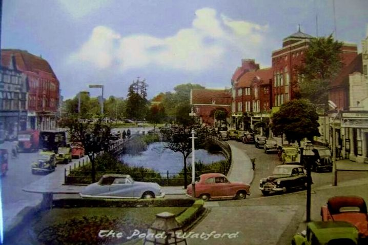 The Pond, Watford, Hertfordshire - in the 1950's