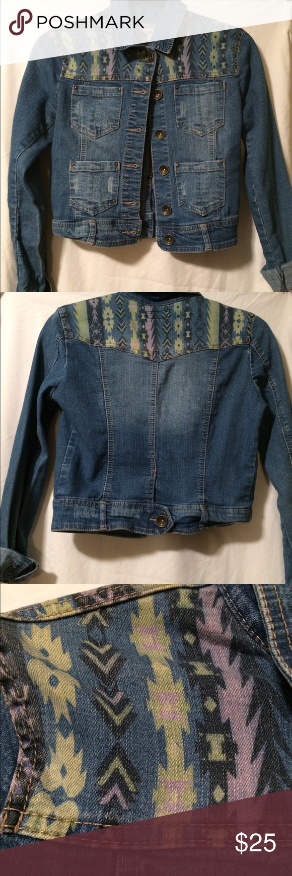 JOLT XS DENIM JACKET XS Denim jacket. Good condition, tribal ...