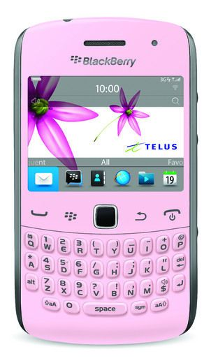BlackBerry Curve 9360; TELUS will be donating $25 to the Canadian Breast Cancer Foundation for every unit sold.