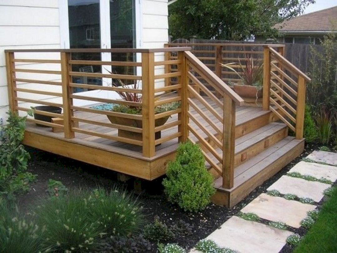 Phenomenal Top 25 Small Wooden Deck Remodel Ideas With Photos