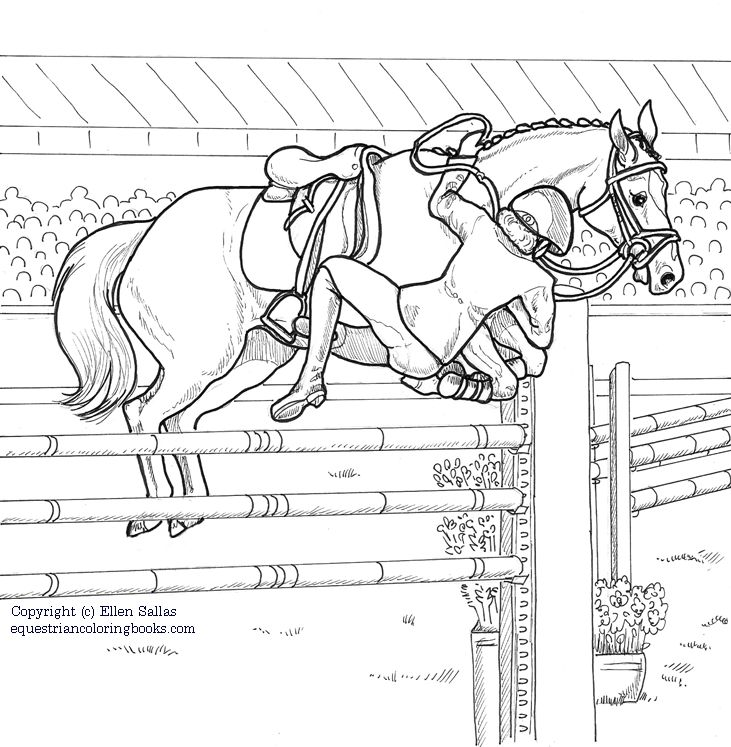 Equestriancoloringbooks Show Jumping Coloring Books Equestrian