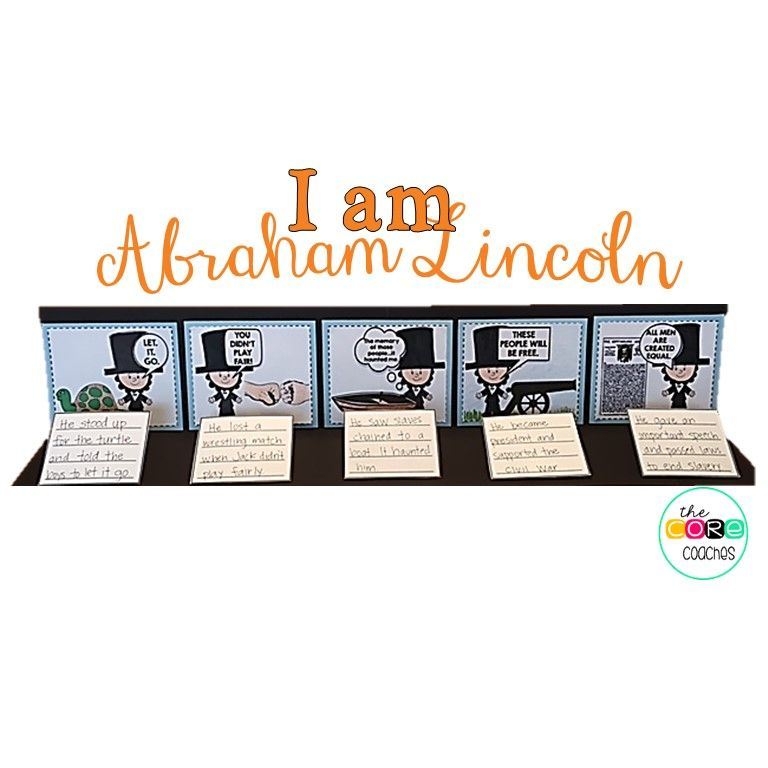 """Make a 3-dimensional timeline with scenes from """"I am Abraham Lincoln,"""" by Brad Meltzer"""