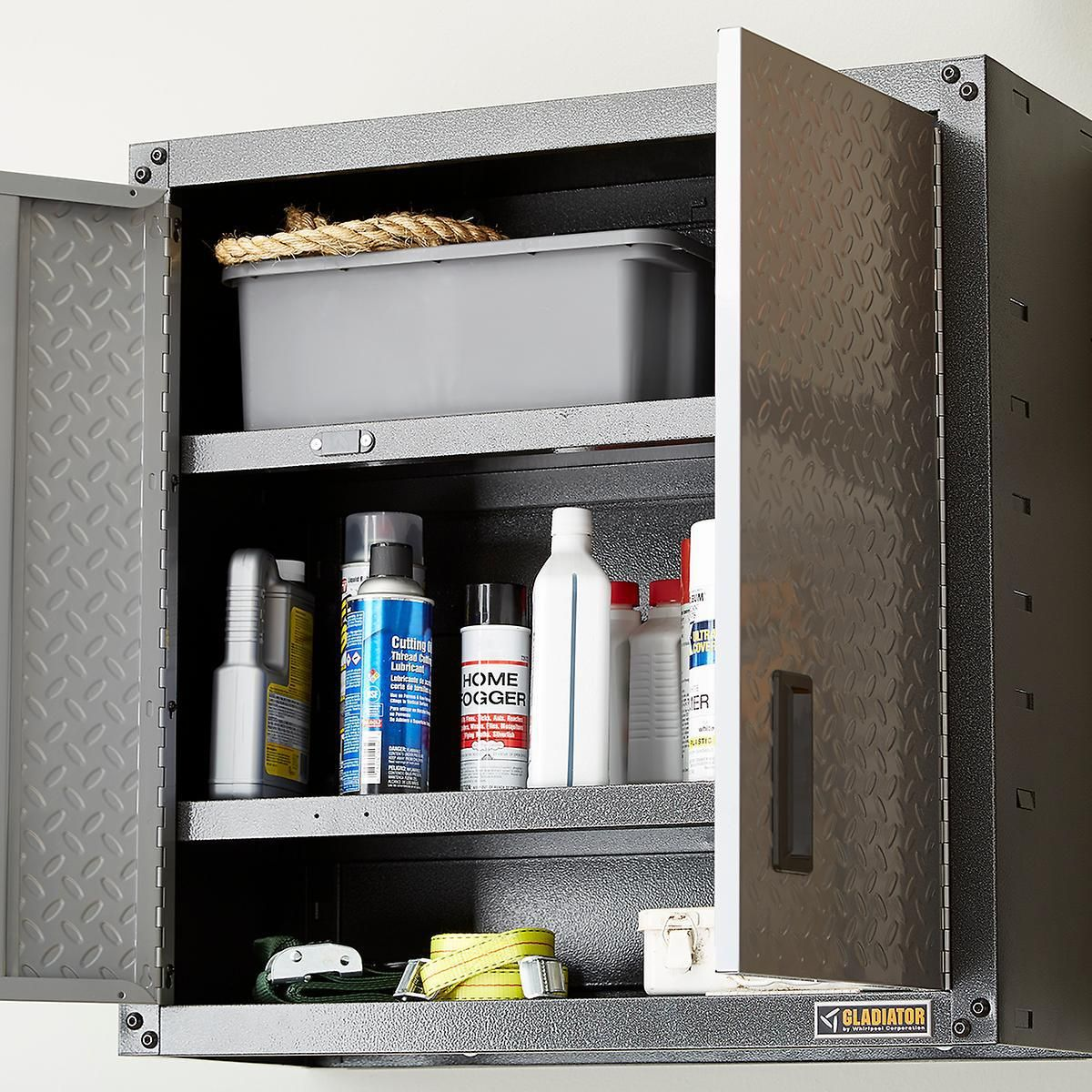 Gladiator Wall Mounted Gearboxes Are Perfect For Automotive Supply Storage With Images Shelving Solutions Door Wall