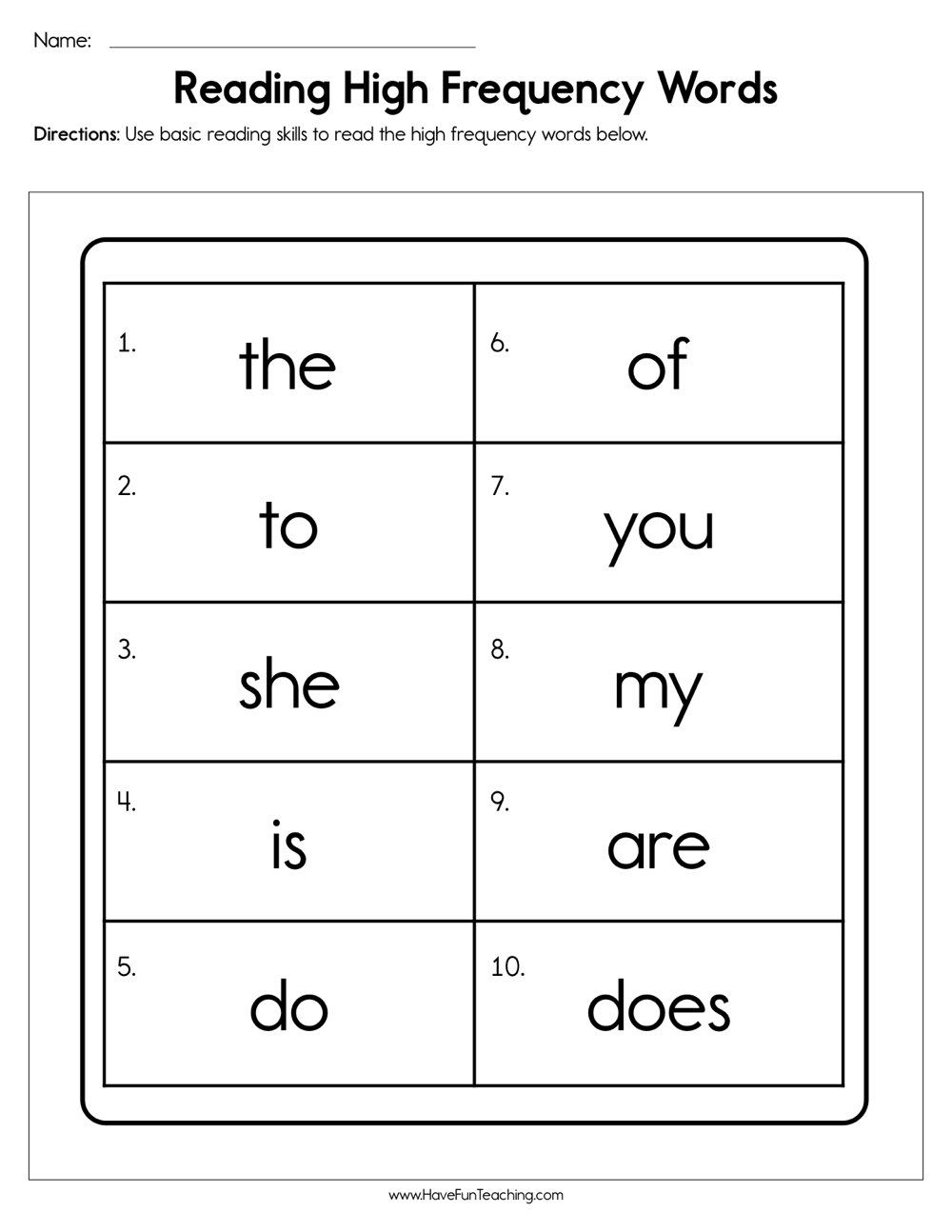 Reading High Frequency Words Worksheet Writing Cvc Words Cvc Words Worksheets Cvc Words [ 1294 x 1000 Pixel ]