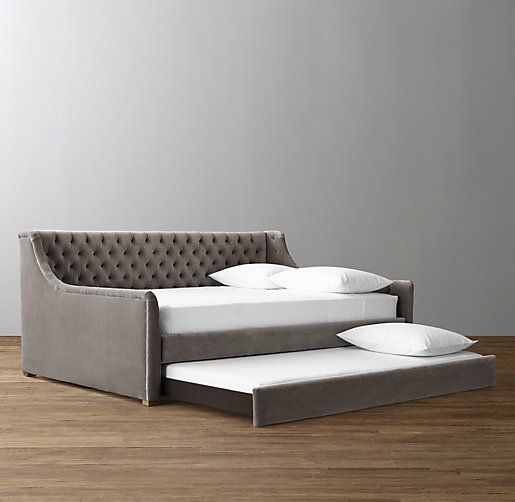 Devyn Tufted Daybed With Trundle Oak Daybed With Trundle