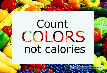Image result for count colours not calories