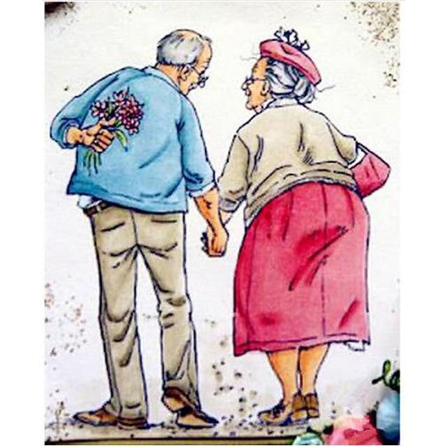Diamond Embroidery Full Drill 5D DIY Old Couple Home Decor Kits Art Embroidery
