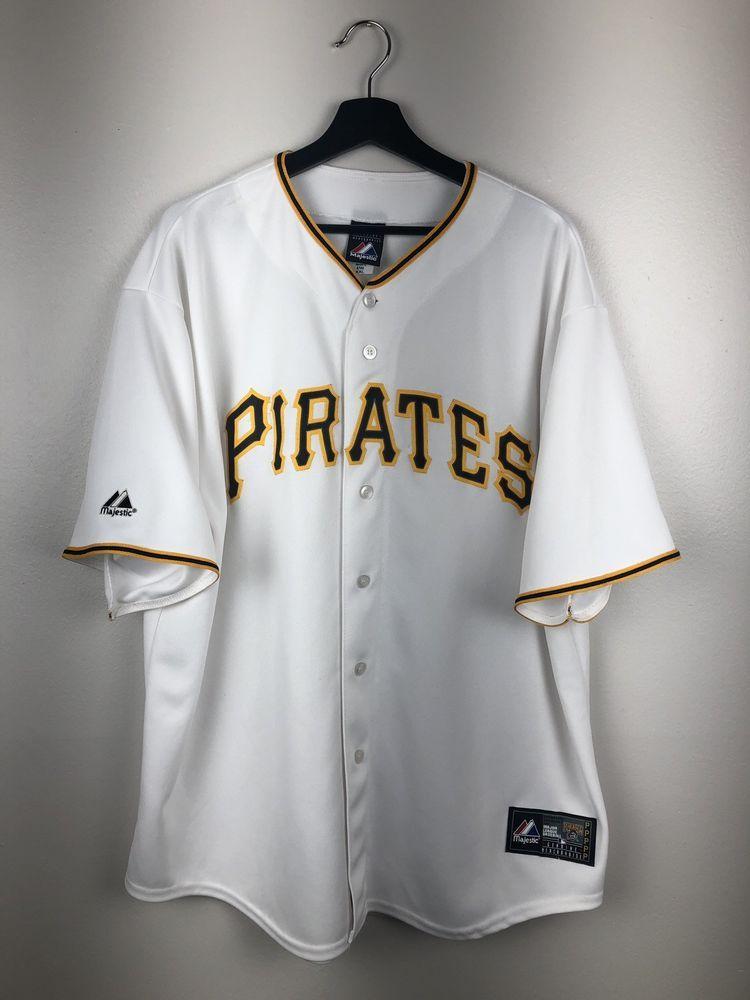 Majestic MLB Pittsburgh Pirates Blank Jersey Size XXL Free