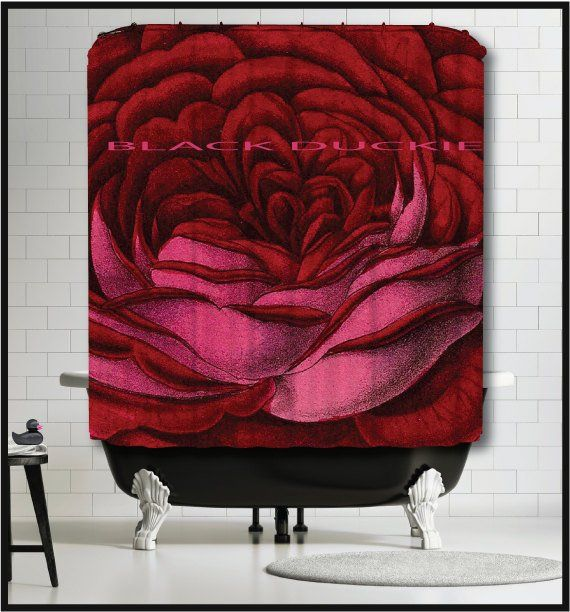 Red Rose Shower Curtain Botanical Shower Curtains Floral