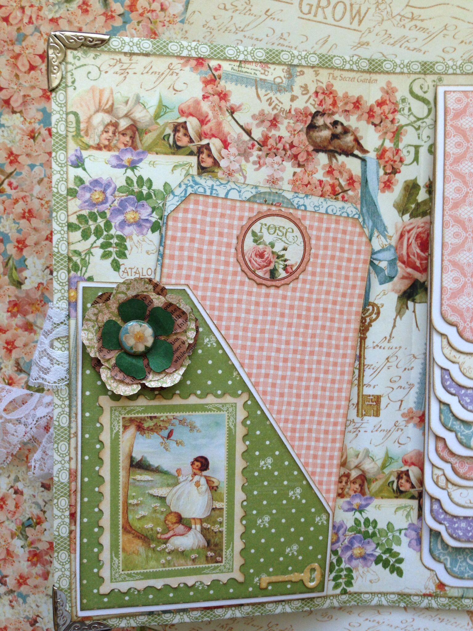 Waterfall Folio   Graphic 45 Secret Garden Paper
