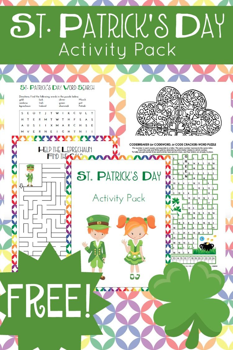 St Patricks Day Printable Activity Pack for Kids   Curriculums ...