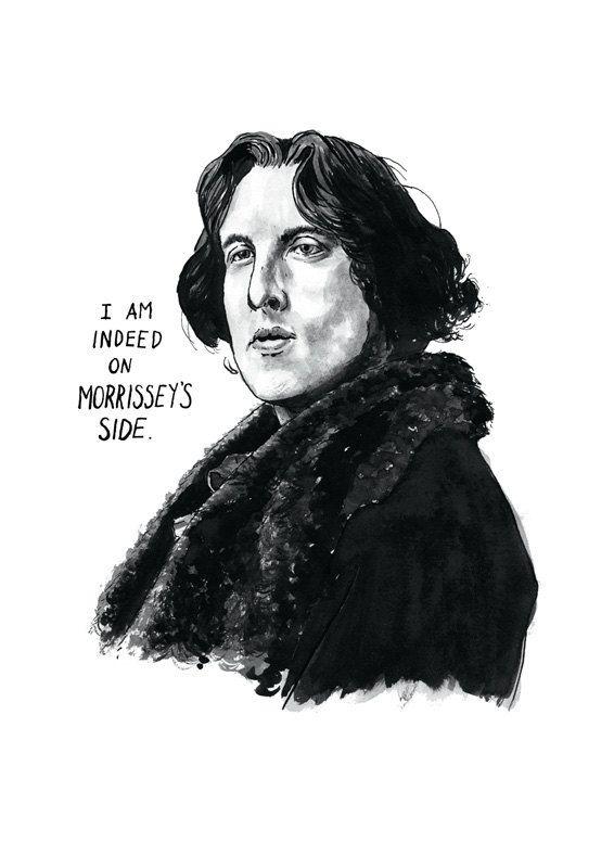 Oscar Wilde Portrait Poster Print, As Seen on HBO's 'Girls', 80s ...