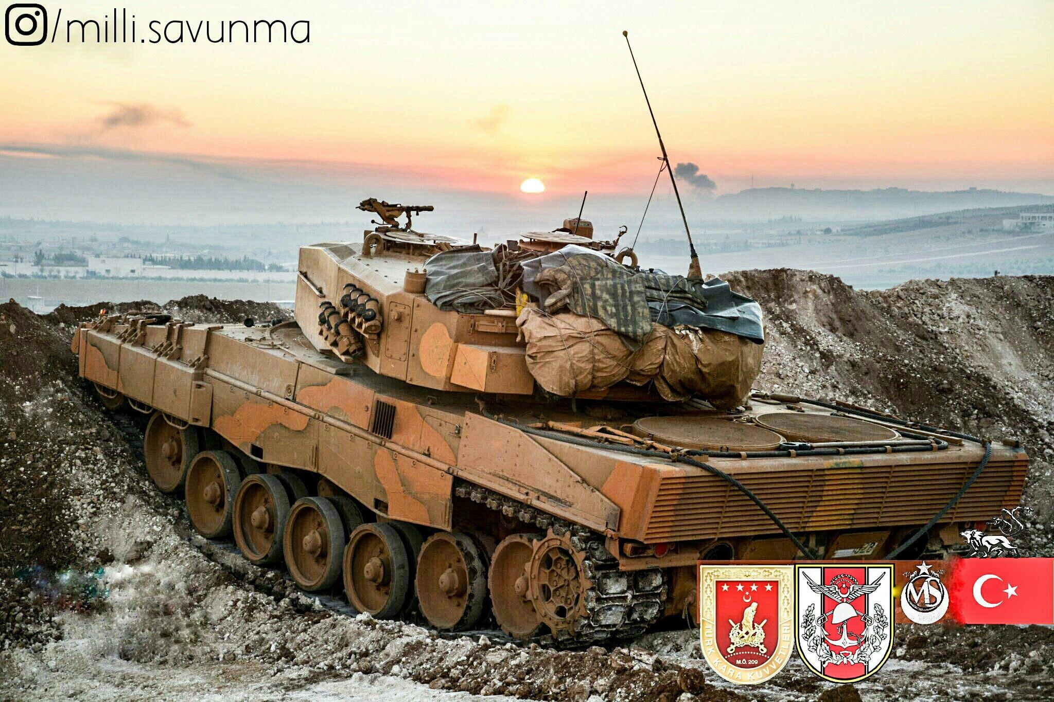 7196e84ffc3e Turkish leopard 2A4 main battle tank in Syria-El bab Operation Euphrates  Shield Türk ana savaş tankı leopard 2A4 Suriye-El bab Fırat Kalkanı  Operasyonu