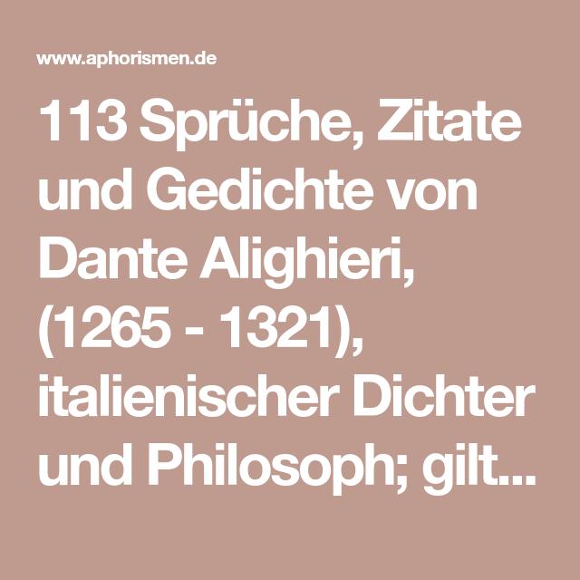 113 Sprüche Zitate Und Gedichte Von Dante Alighieri 1265
