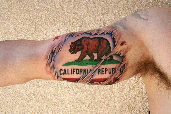 Ca republic tattoo drapeau californie tatoo tatouage