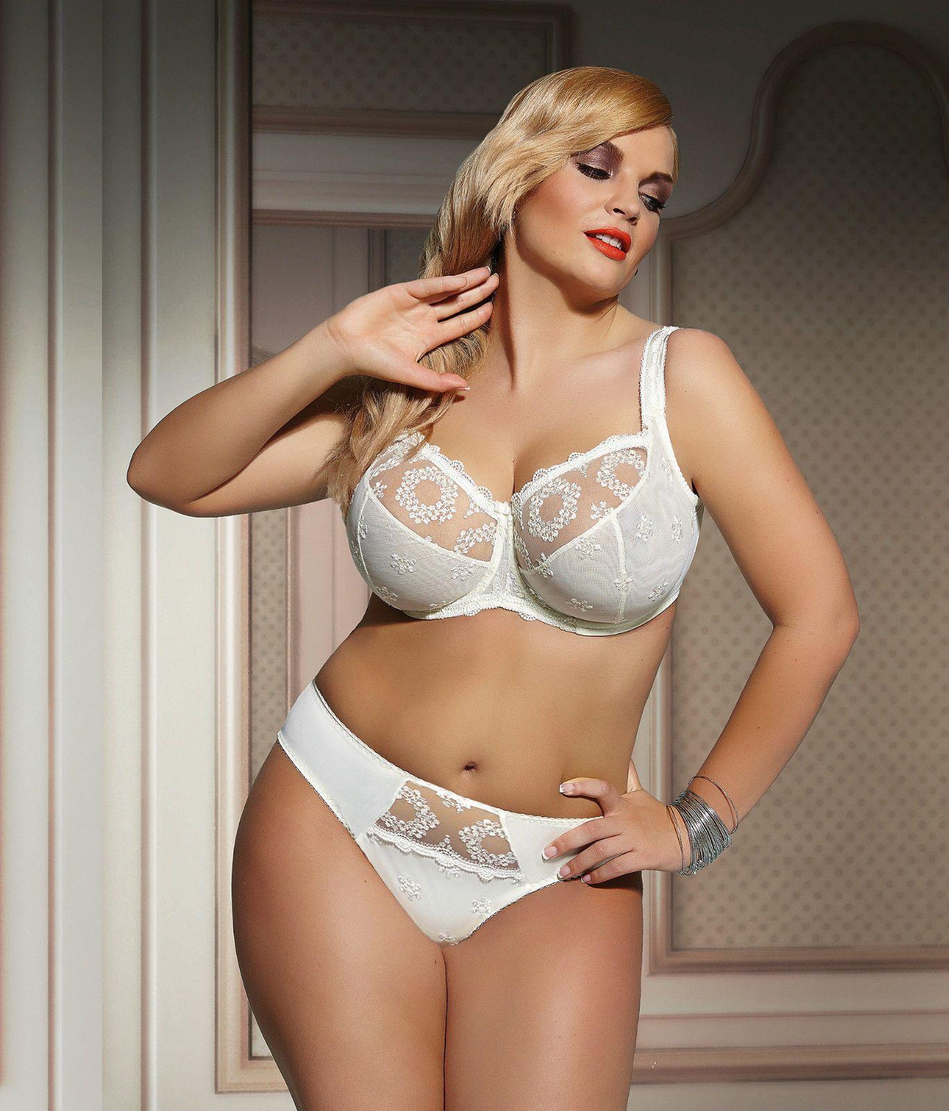 Fortuna Plus Size Soft Ecru Large Luxury Bra KrisLine ...