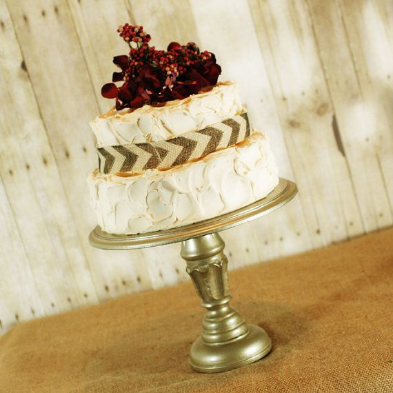 One Rustic Pedestal Cake Stand any color by RoxyHeartVintage ...