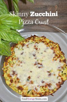 How To Make Skinny Zucchini Pizza Crust - Food Storage Moms