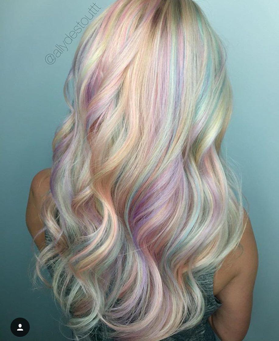 Pastel rainbow hairbyallydestout by imallaboutdahair hair