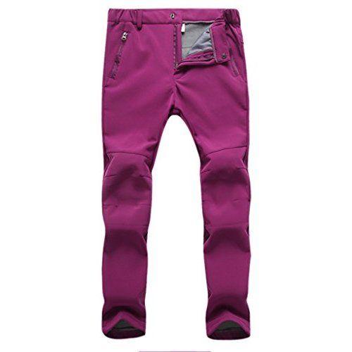 APTRO Women's Outdoor Fleece Snow Bib Windproof Ski Hiking Snow Pants Light Blue Size M