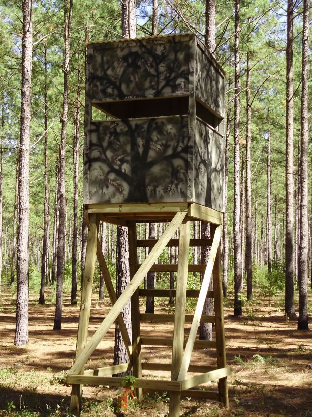 Wood deer stand platform wistful29gsg hunting for Deer ground blind plans