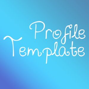 Profile Template (UPDATED 20/10) by TashaPhoenix on deviantART