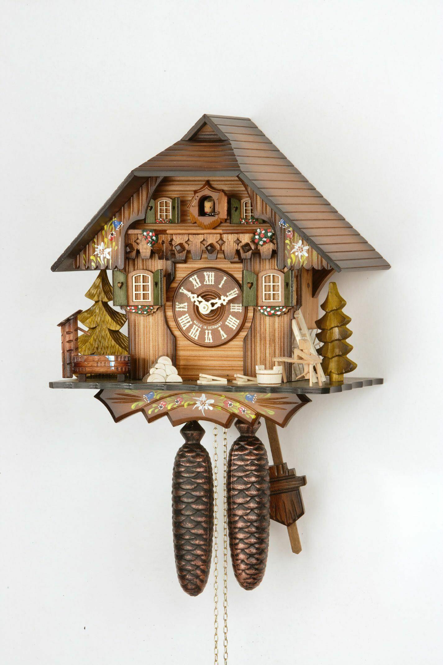 Schöne original Schwarzwälder Kuckucksuhren mit 8 Tage Uhrwerk 240 ...