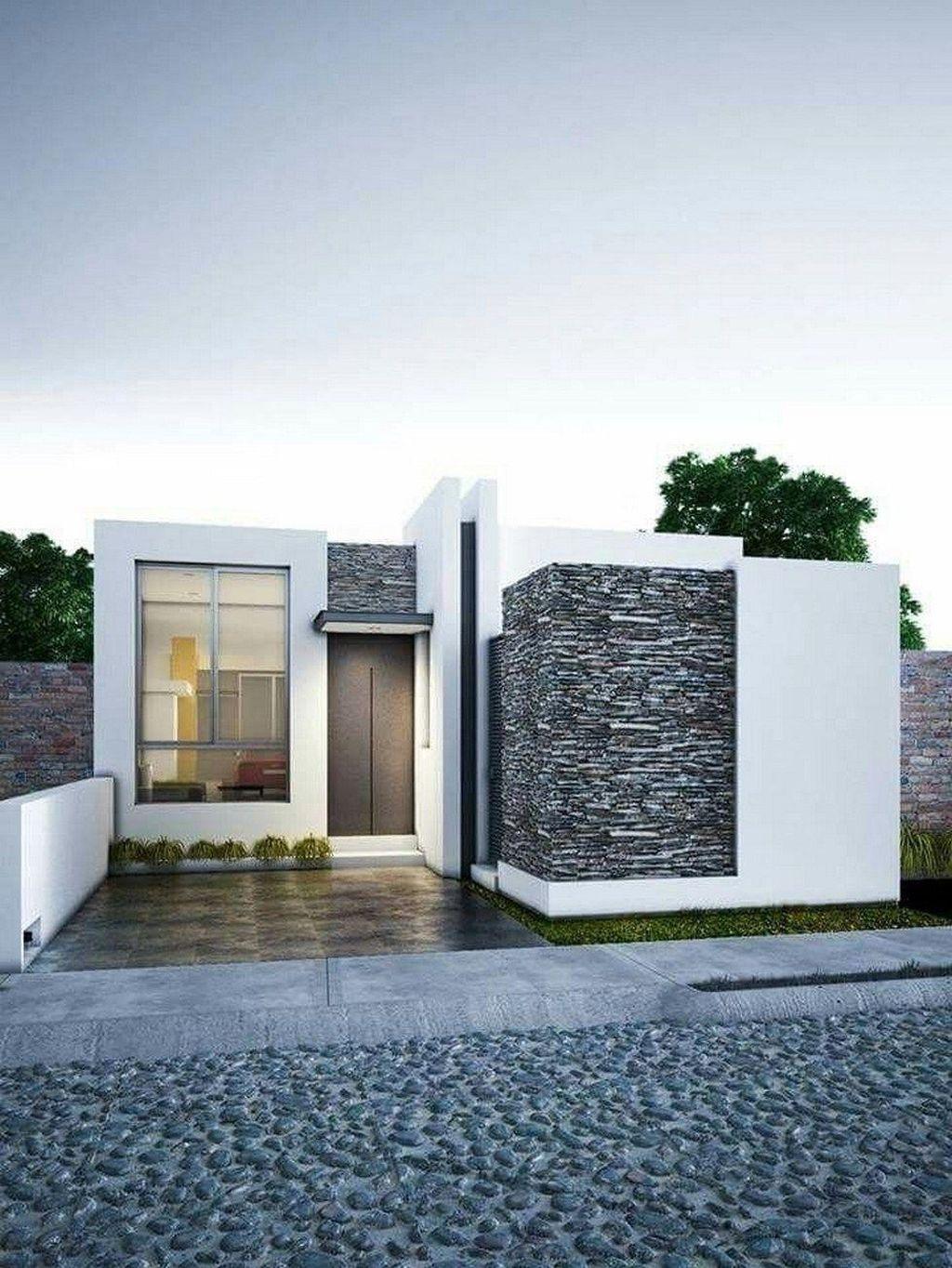 30 Stunning Minimalist Houses Design Ideas That Simple Unique And Modern Modern Minimalist House Facade House Modern Exterior House Designs