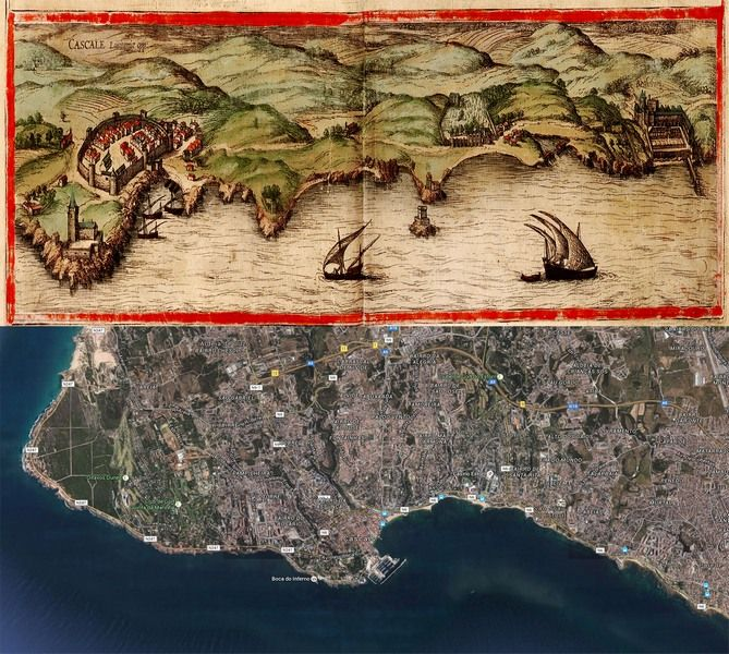 Cascais Portugal Map Then And Now OldCitiesMap - Portugal geology map