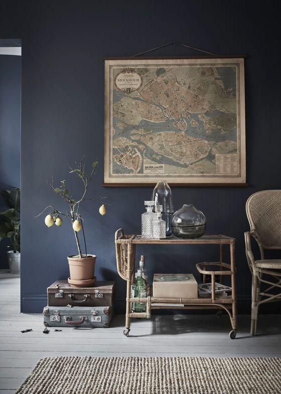 De charme van donkere interieurs - Donkere interieurs, Interieurs en ...