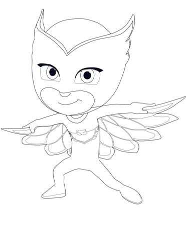 Owlette From PJ Masks Coloring Page Category Select 27569 Printable Crafts