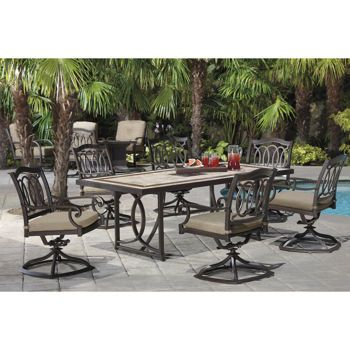 High Quality Costco   Alumicast All Rocker Dining Set