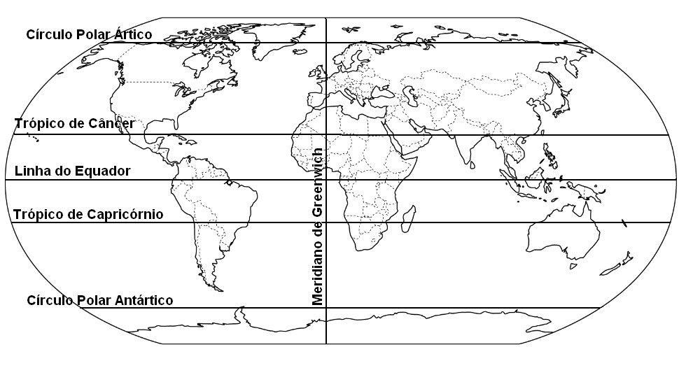 Resultado De Imagem Para Desenho Do Mapa Mundi Com Meridiano De