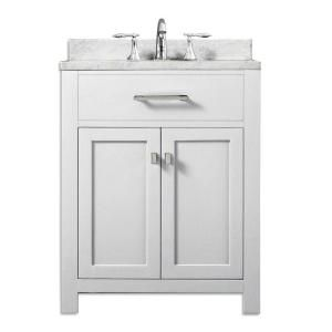 Vanity In Modern White With Marble