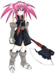 Gotta love a short girl with a large axe.