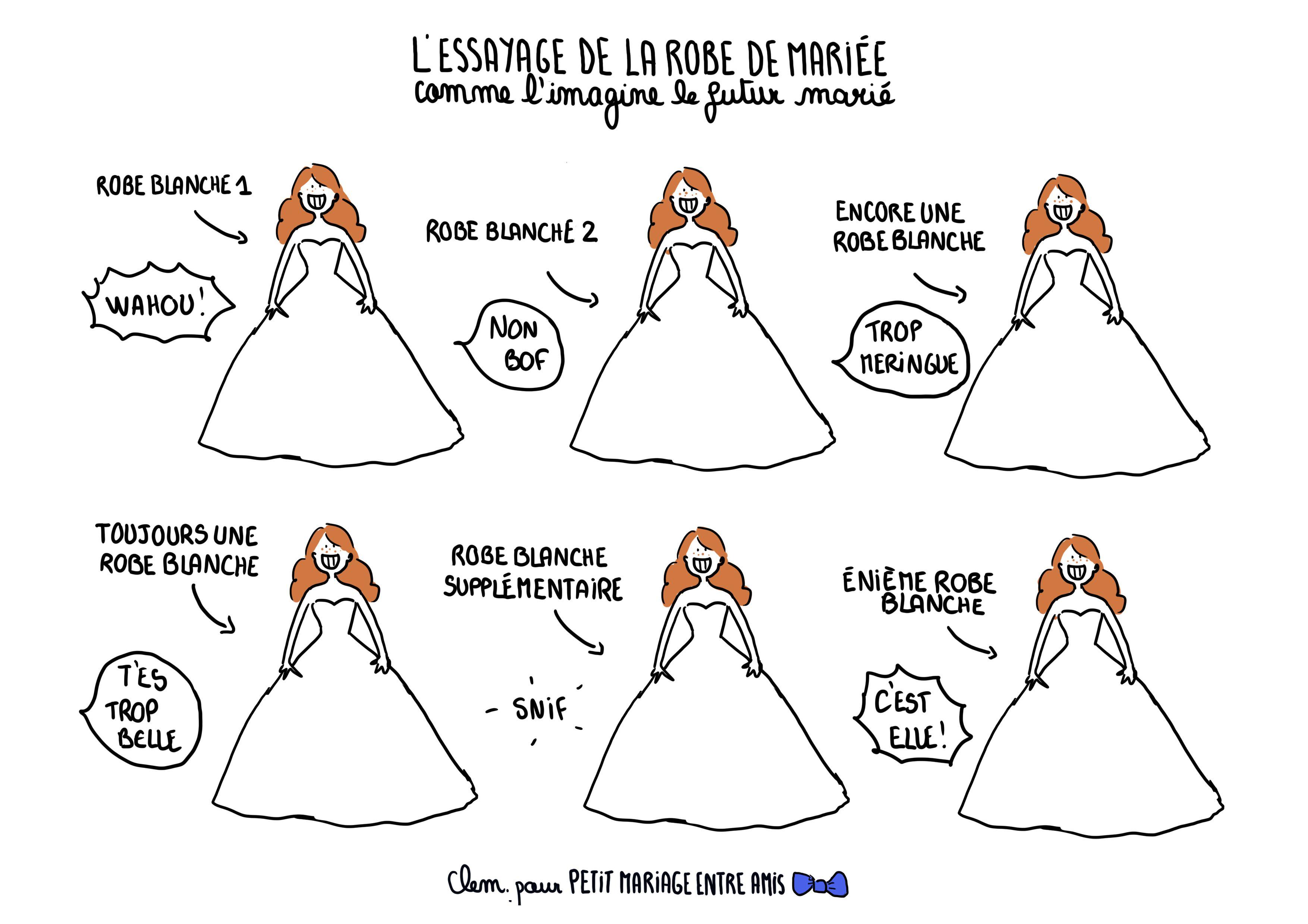 Vus Marié Le Robe Les Par Futur De La Essayages Mariée eY2E9WDHI