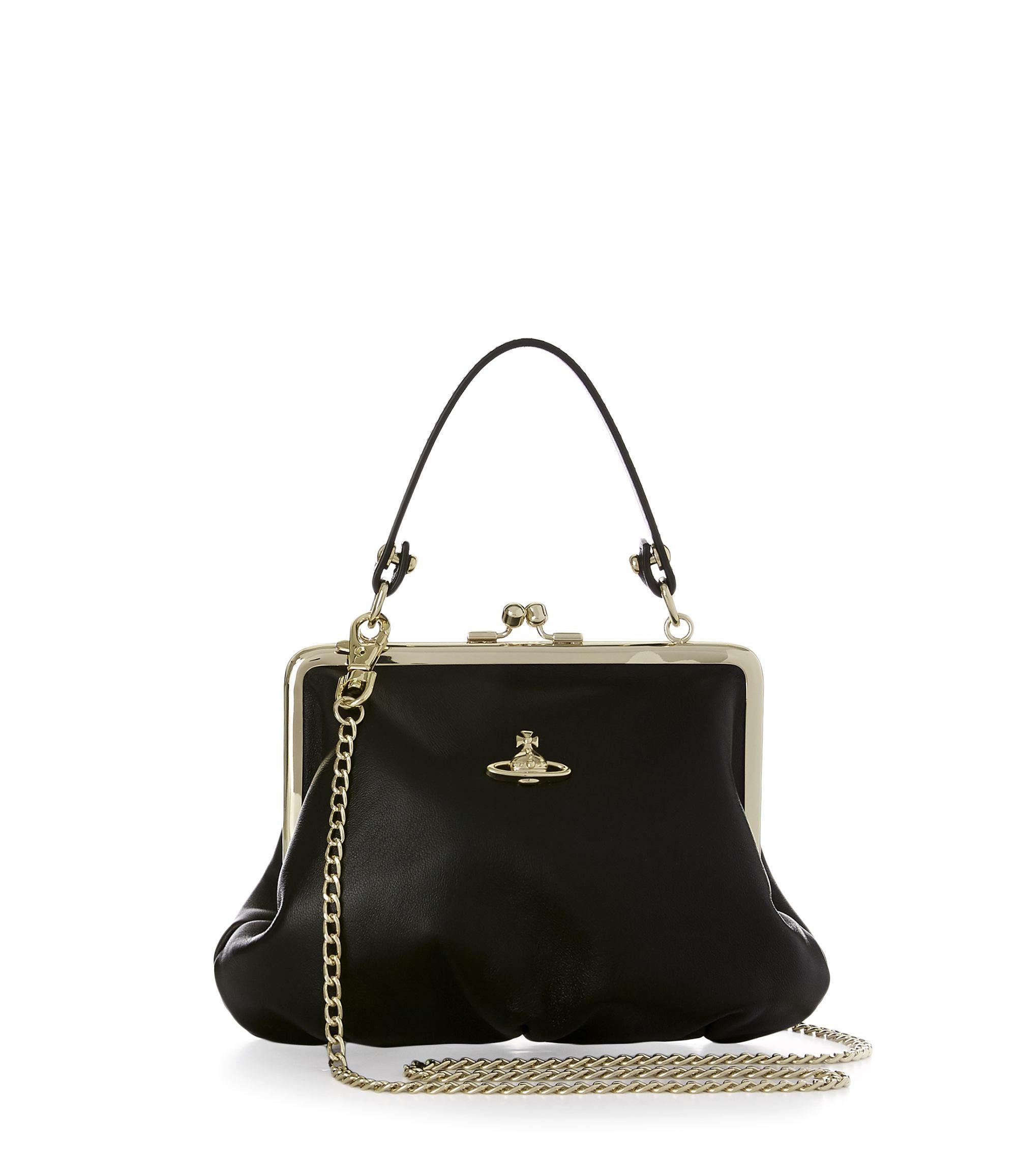 b51eaffdb15 VIVIENNE WESTWOOD Nappa Handbag 52020003 Black. #viviennewestwood #bags  #leather #