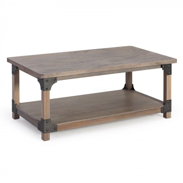 Coffee table modern living room driftwood decor accent