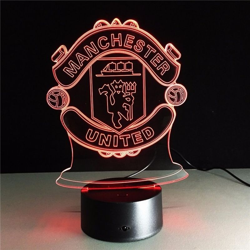 Manchester United 3d Led Lamp Cute Little Kawaii 3d Led Night Light 3d Led Lamp Night Light Lamp